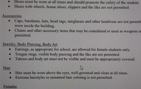 Piercings for Female Students, Pass! Piercing for Male Students, Not a Chance!