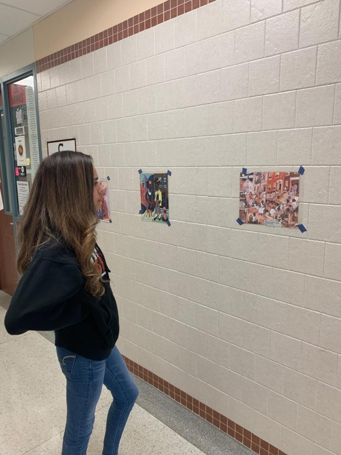 Studying the Elements of Art Sophomore, Alex Vara, studies different types of art and culture for her history class.