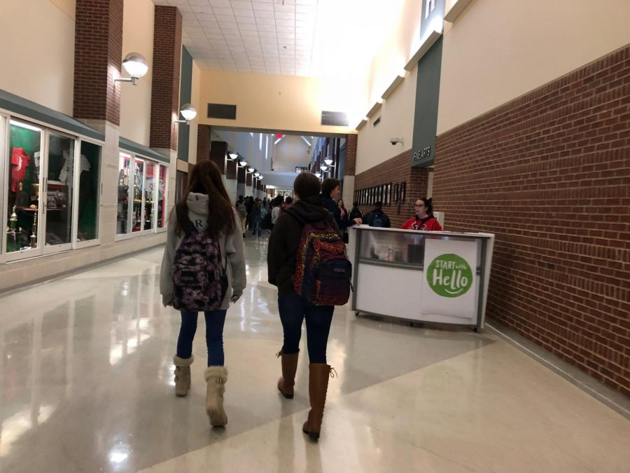 Safety First Students all over Rockwall ISD are now required to wear Identification whenever they step on campus. As students walk in the door every morning, SROs and Safety Officers watch for those without identification, and set a table that allots temporary passes for students without IDs.