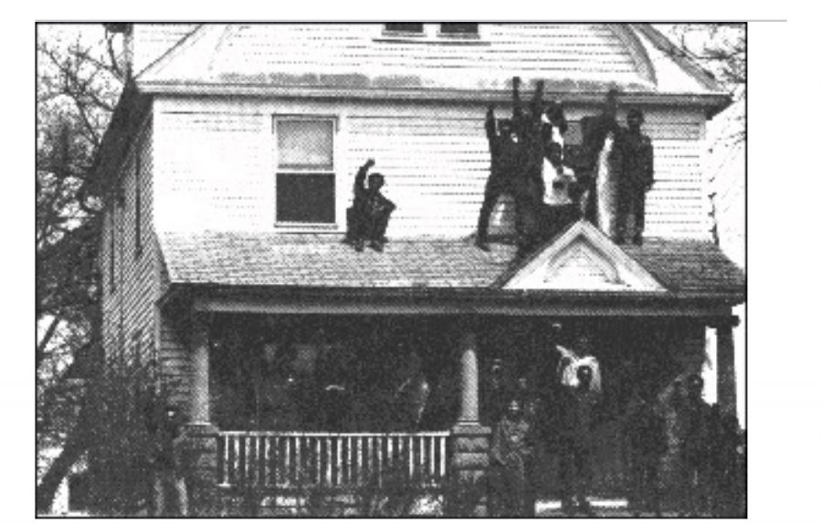 A month like no other // Historical picture of the Kuumba House as students celebrated the first year of Black History Month.