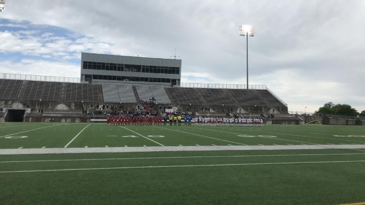 Goal // The stadium that the Lady Hawks played at.