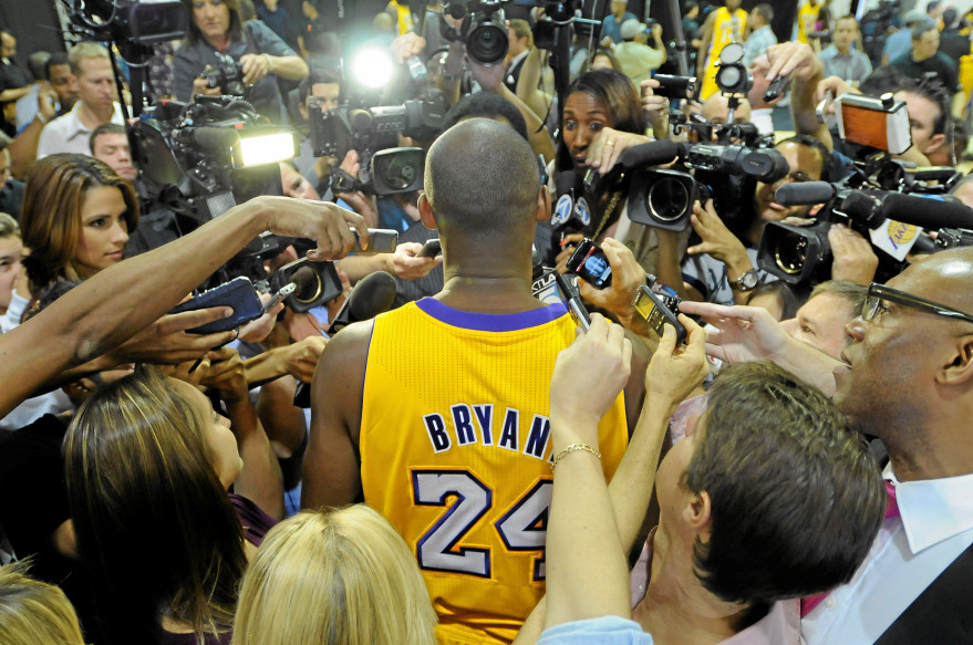 One of the Greats// Kobe Bryant's tragic passing sends shockwaves across the world. (John McCoy/Los Angeles Daily News)