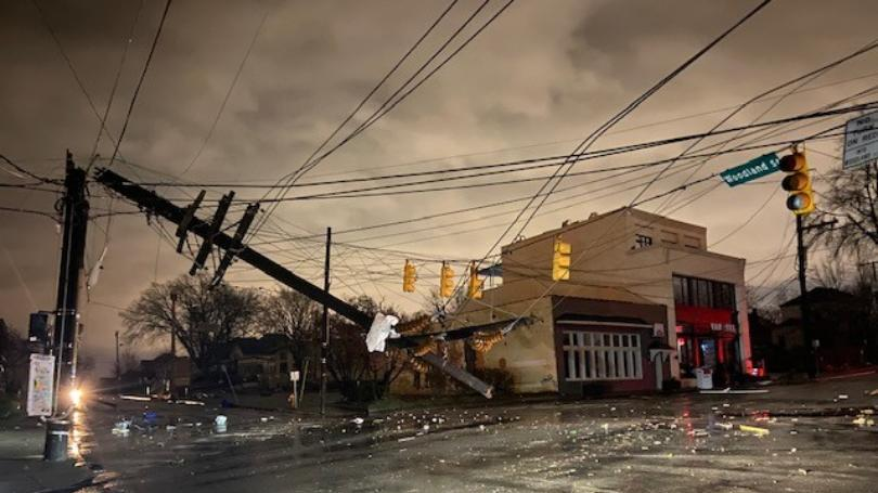 Tornado Damage// Areas of Tennessee were left with damaged buildings and houses after a tornado touched down killing at least 22 people. Photo Credit: newsbreak.com